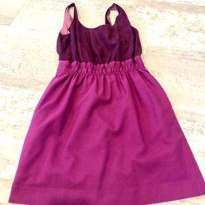 J crew plum and lavender dress